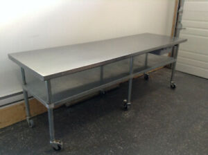 Table de travail Stainless Steel