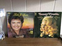 2 VINYL LP RECORDS, BILLIE JO SPEARS AND TAMMY WYNETTE