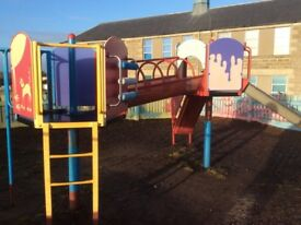 Child's climbing frame and shute
