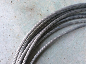 5/16 Galvenized Steel Aircraft Cable with Eyelets Windsor Region Ontario image 5