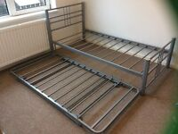 Single Metal Bed Frame with Guest Bed
