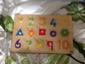 Mothercare large wooden numbers/letters puzzle