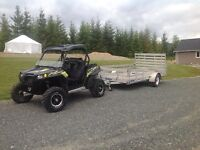 Polaris RZR 900 XP Stealth Addition with 2012 Travel Trailer