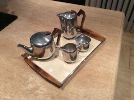 Vintage original Pioquet Ware 5 piece tea / coffee set