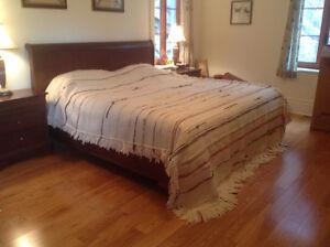 Couverture toute laine tissée  par artisan