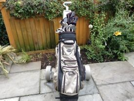 Men's Golf Clubs and Trolley £25