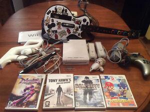 Jeux de Wii avec Guitare Hero / Wii Game with Guitar Hero