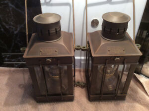 PAIR SHIP CARGO LIGHTS NO 3954 GREAT BRITAIN 1939