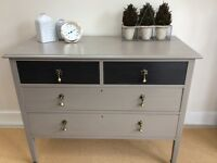 Shabby to Chic - vintage chest drawers or console table