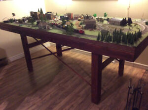 HO complete train layout