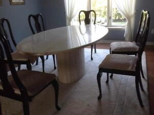 Marble dinning table- seperat top and stand