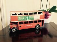 Large Red Double Decker Bus Ornament