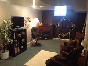 1 or 2 bedroom furnished basement suite