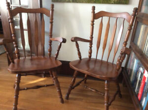 Antique country armchairs