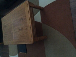 Solid wood coffee table and two end tables