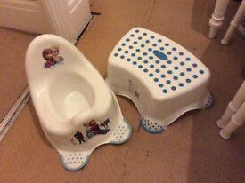 Disney Frozen potty and step set