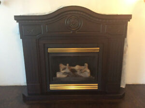 Propane Fireplace and Mantle For Sale