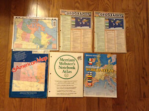 MAPS AND GEOGRAPHY SUMMARY SHEETS