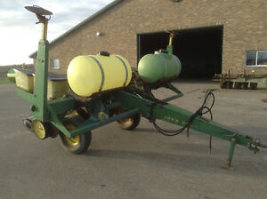 Planters, drills, seed/ fertilizer wagons and chisel plows.