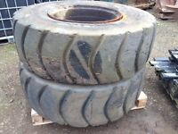 Industrial rims and tyres moxy Volvo dossan jcb