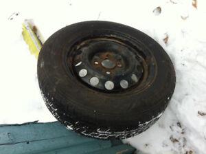 "4- 15"" snow tires on 4x100 rims"