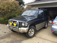 1991 Mitsubishi Pajero 4x4 turbo diesel with aux.veggie-oil tank