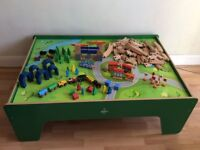 Carousel Wooden Train Table plus extra train sets