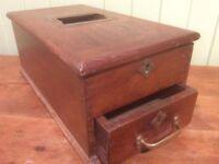Antique wooden cash register