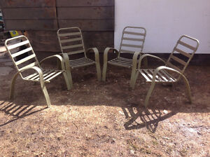 SET OF 4 PATIO CHAIRS - $10 EACH