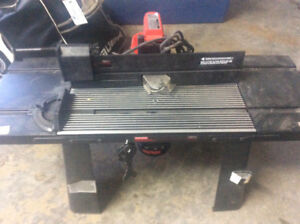 Craftsman router and table new never used