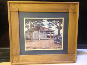 Vintage Coca Cola picture in wood frame