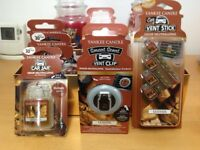 Yankee ultimate car jars, vent clips, sticks