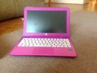 HP pink laptop