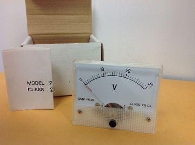 Vintage Electronic 0-30 Volt Meter Gme Pm89