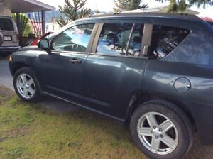 2007 Jeep Compass black Hatchback