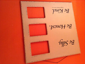 Be Silly, be Honest, Be kind....children's photo frame