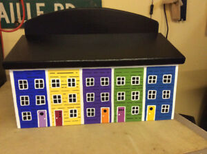 Colourful Jelly Bean Row Mailboxes