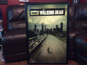 AMC'S THE WALKING DEAD TV SERIES WOODEN FRAMED POSTER