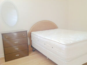Spacious 1 bedroom suite with double bed for rent