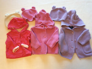 Gap Bear Sweaters and Hats - Pinks (3-6 months)
