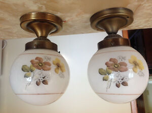 One pair of light fixtures