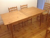 Marks and Spencer pine dining table