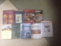 Selection of geography degree reference books
