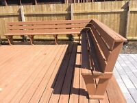 Solid Wood deck benches