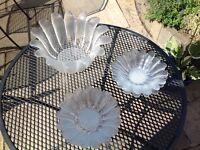 Darlington Glass Daisy designed bowl and 6 dessert dishes