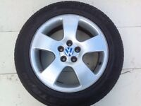 "16"" VW ALLOY WHEELS ALLOYS TYRES WHEELS RIMS PCD 5X112 FITMENT"