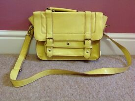 Yellow Accessorize Satchel, hardly used