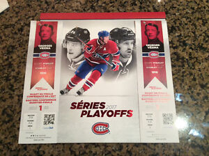 Canadiens vs rangers game #1 wed April 12 section 318AA