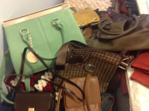 Selection of leather bags most brought back from Europe