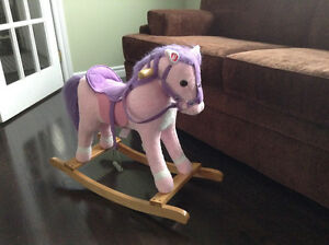 Pink/purple Rocking Horse with sound